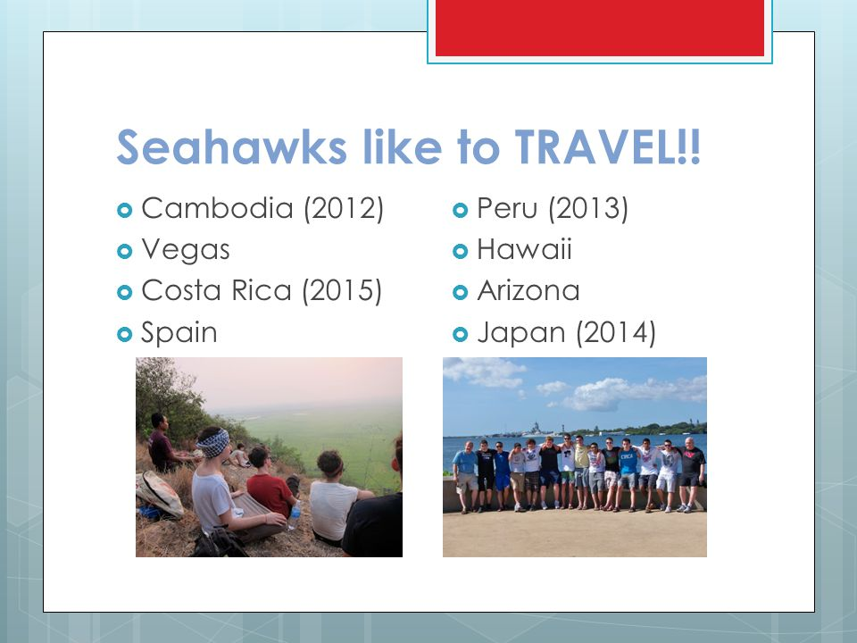 Seahawks like to TRAVEL!!