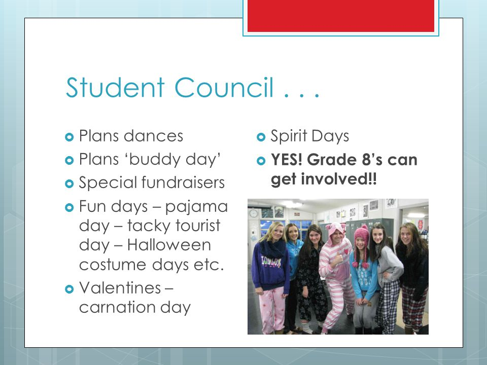 Student Council . . . Plans dances Plans 'buddy day'