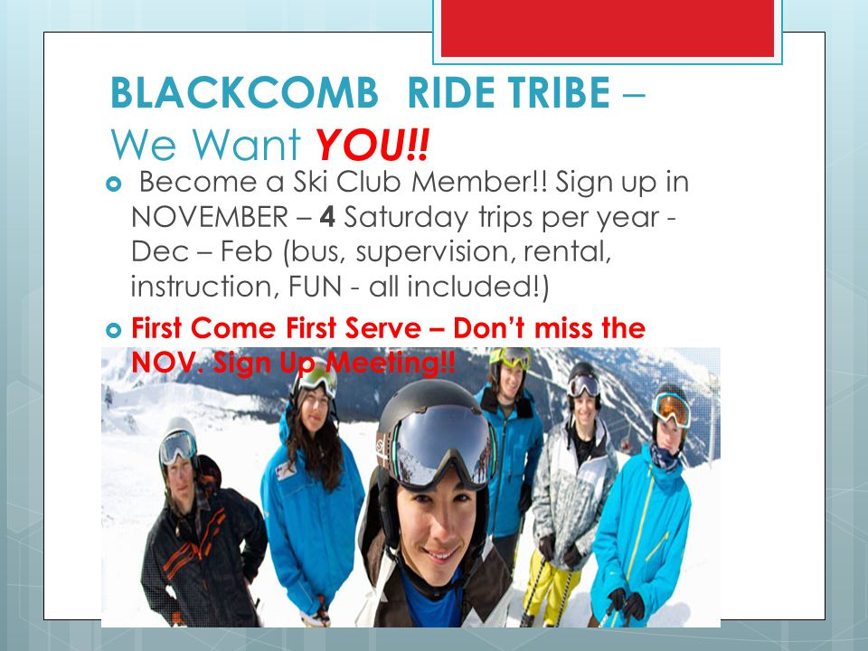 BLACKCOMB RIDE TRIBE – We Want YOU!!