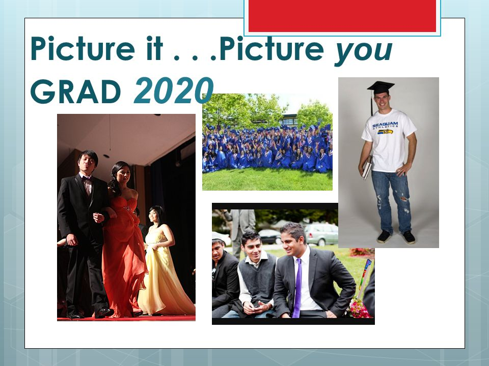 Picture it . . .Picture you GRAD 2020