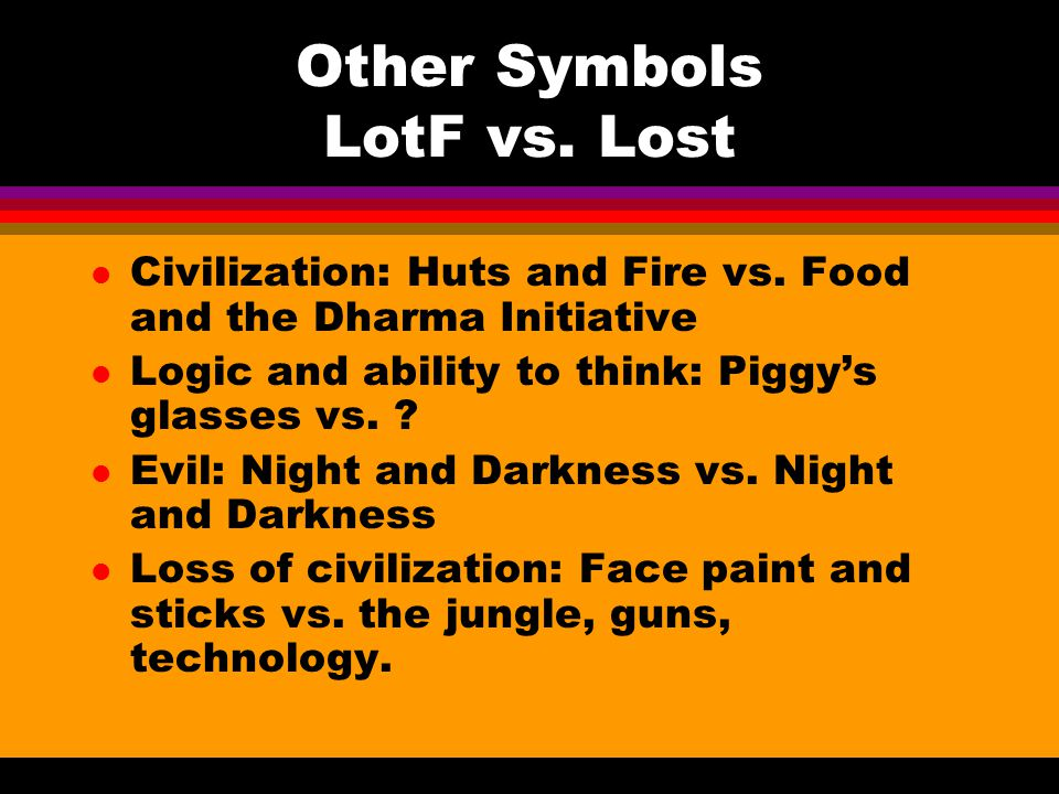 Other Symbols LotF vs. Lost