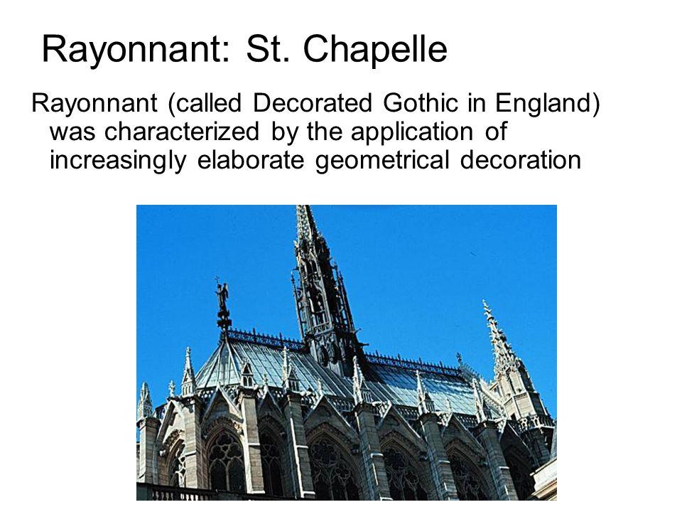 Rayonnant: St. Chapelle