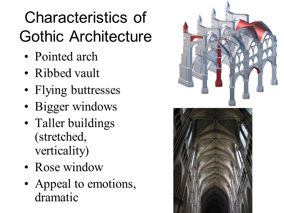 key characteristics of gothic architecture essay Due to the fact that the beginnings of gothic architecture are associated with   basic characteristics and differences between them are described in the  following chapters 2  [6] como, m statics of historic masonry constructions:  an essay.