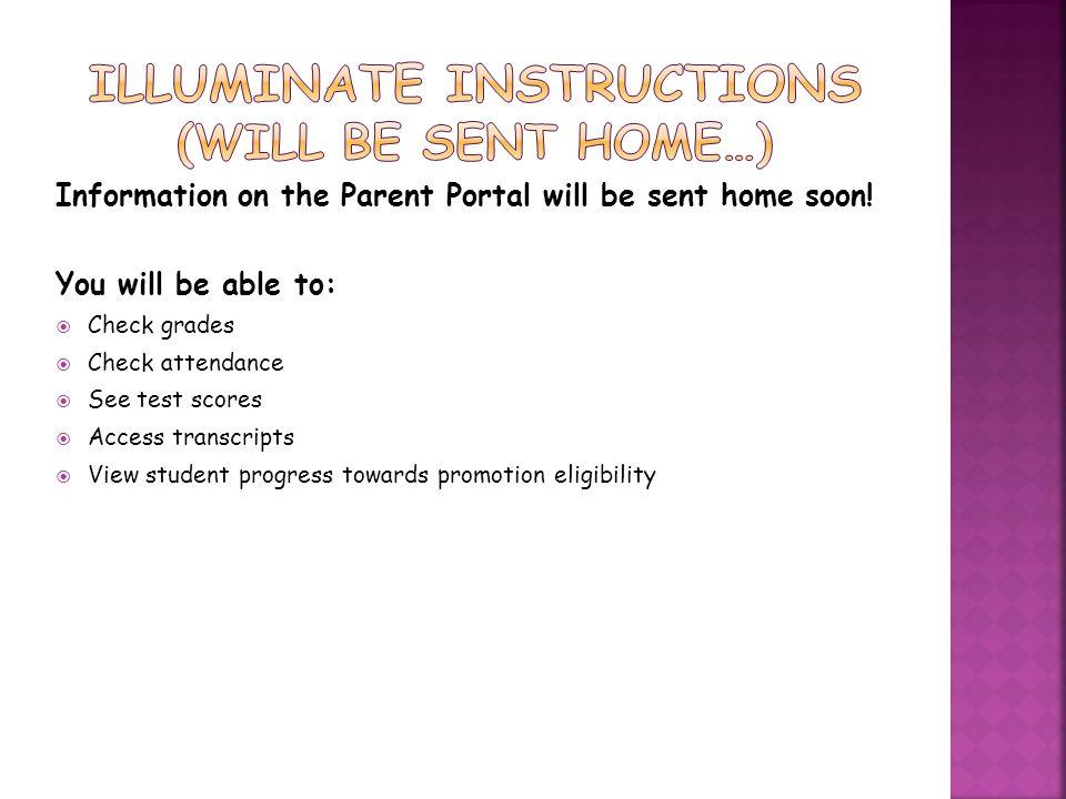 ILLUMINATE Instructions (will be sent home…)