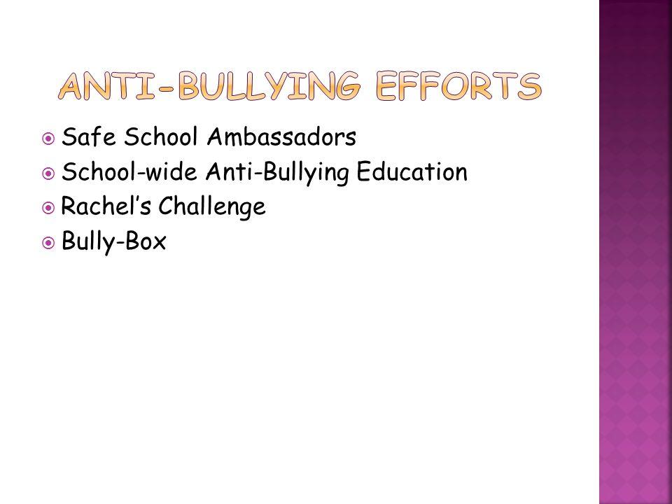 Anti-Bullying Efforts