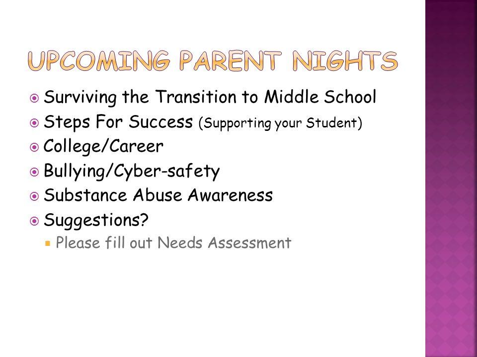 Upcoming Parent nights