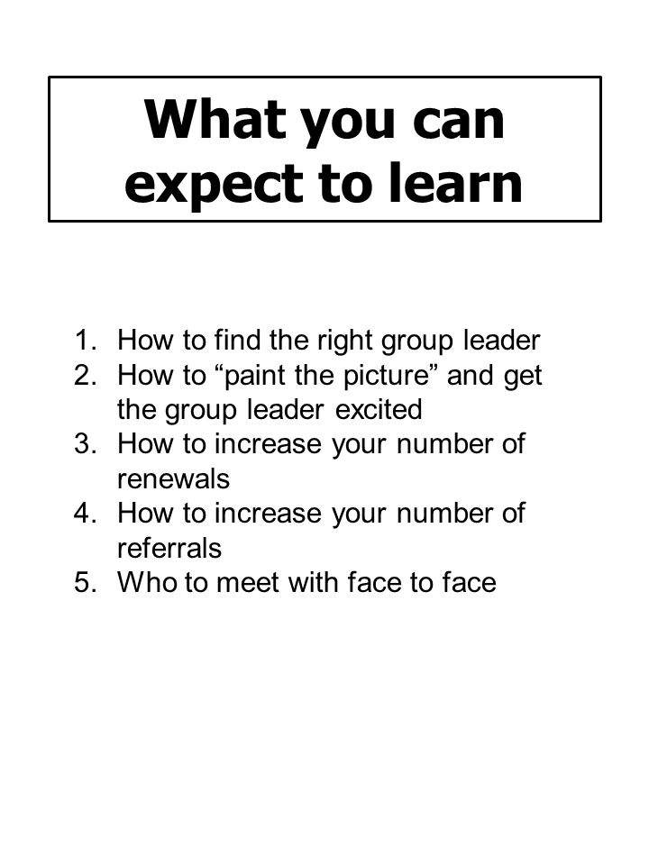 What you can expect to learn
