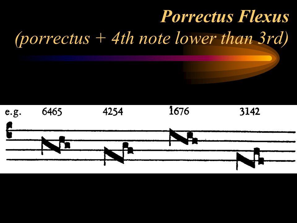 Porrectus Flexus (porrectus + 4th note lower than 3rd)
