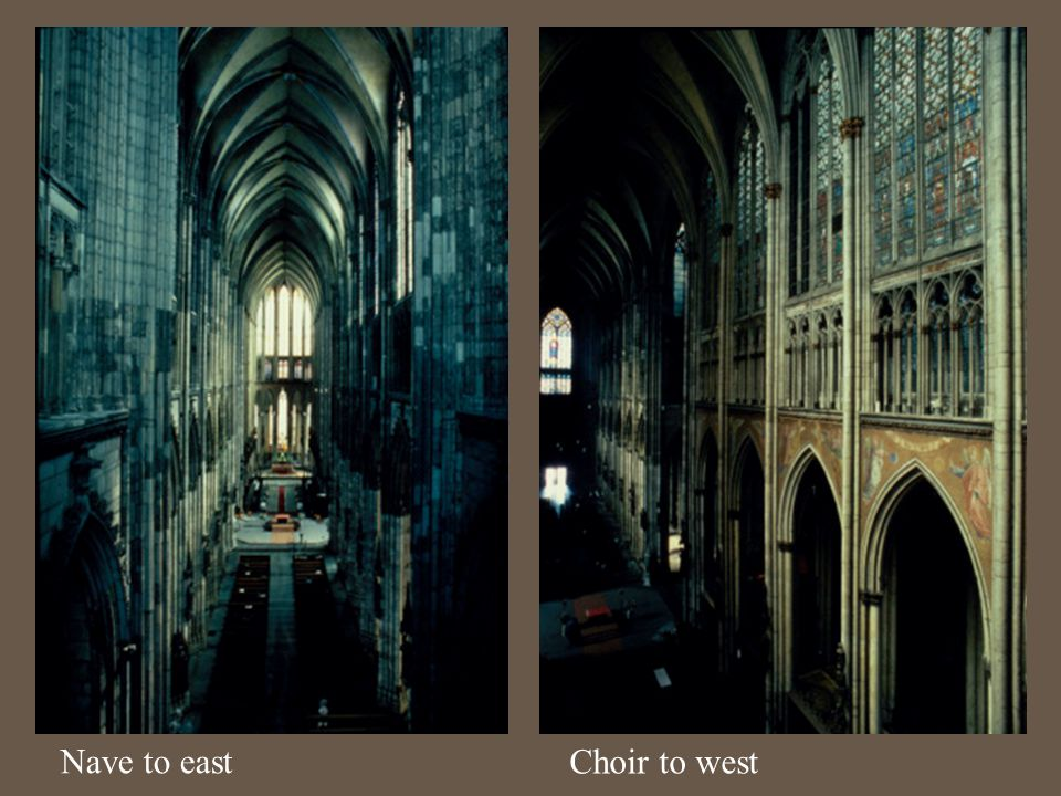 Nave to east Choir to west