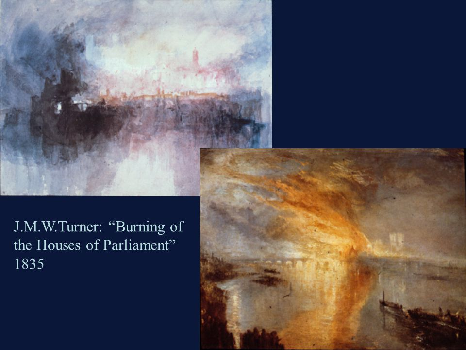 J.M.W.Turner: Burning of the Houses of Parliament 1835