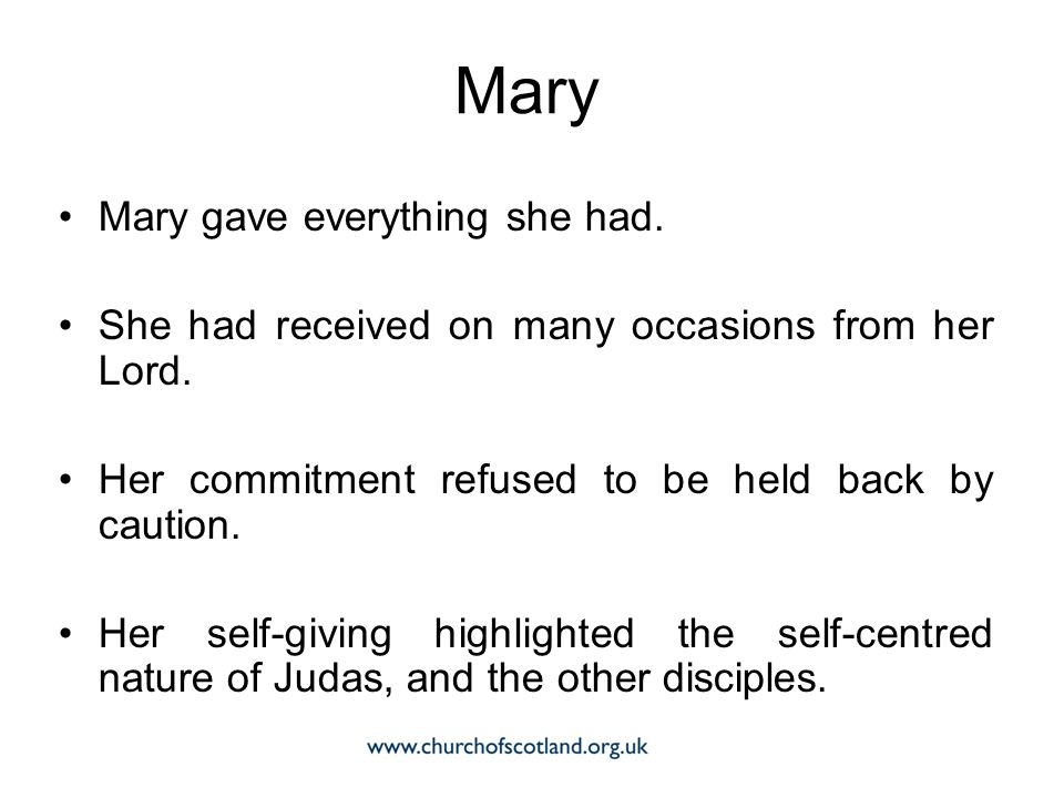 Mary Mary gave everything she had.