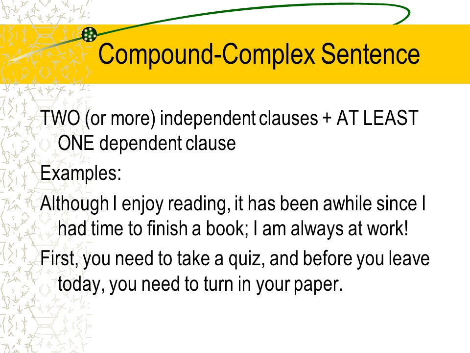Compound Complex Sentence Example Images - example cover letter