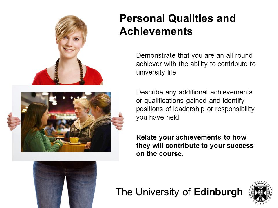 Personal Qualities and Achievements