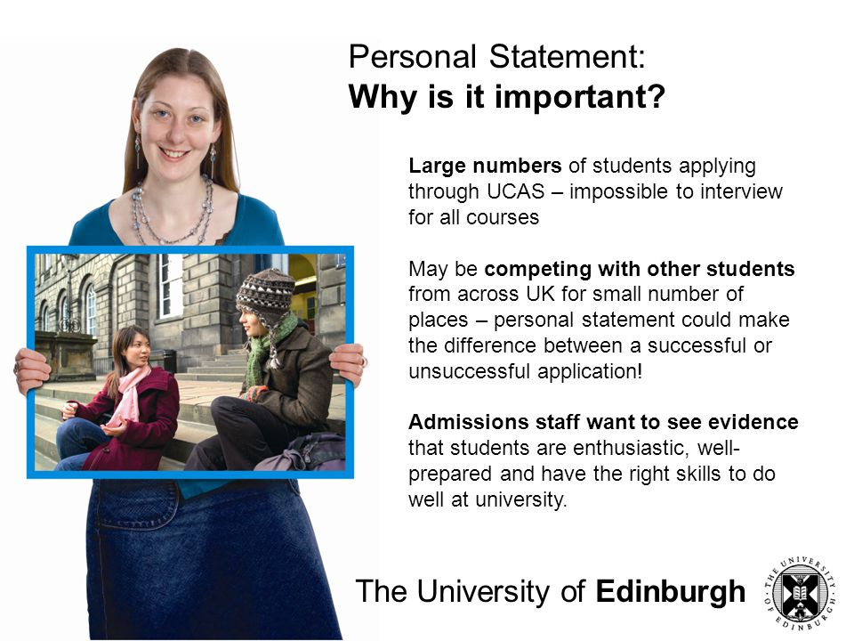 Personal Statement: Why is it important