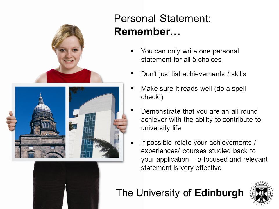 Personal Statement: Remember…