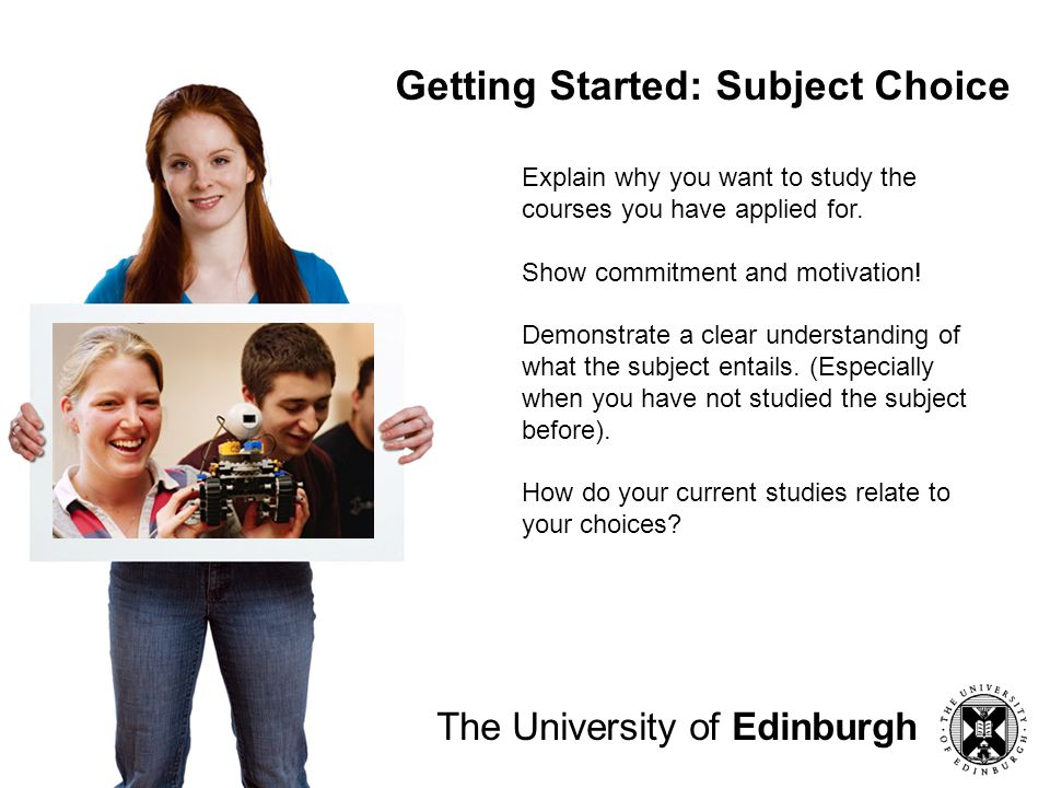 Getting Started: Subject Choice