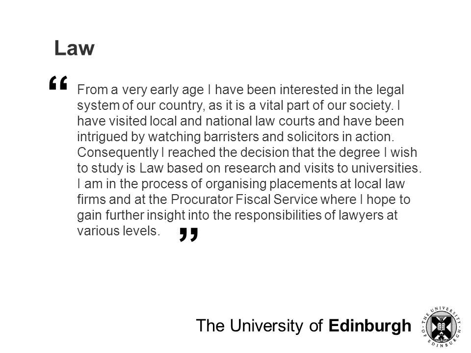 Law The University of Edinburgh