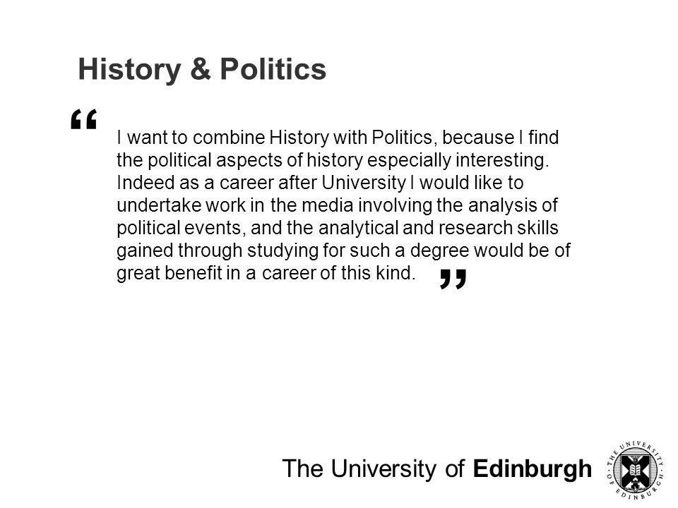 History & Politics The University of Edinburgh