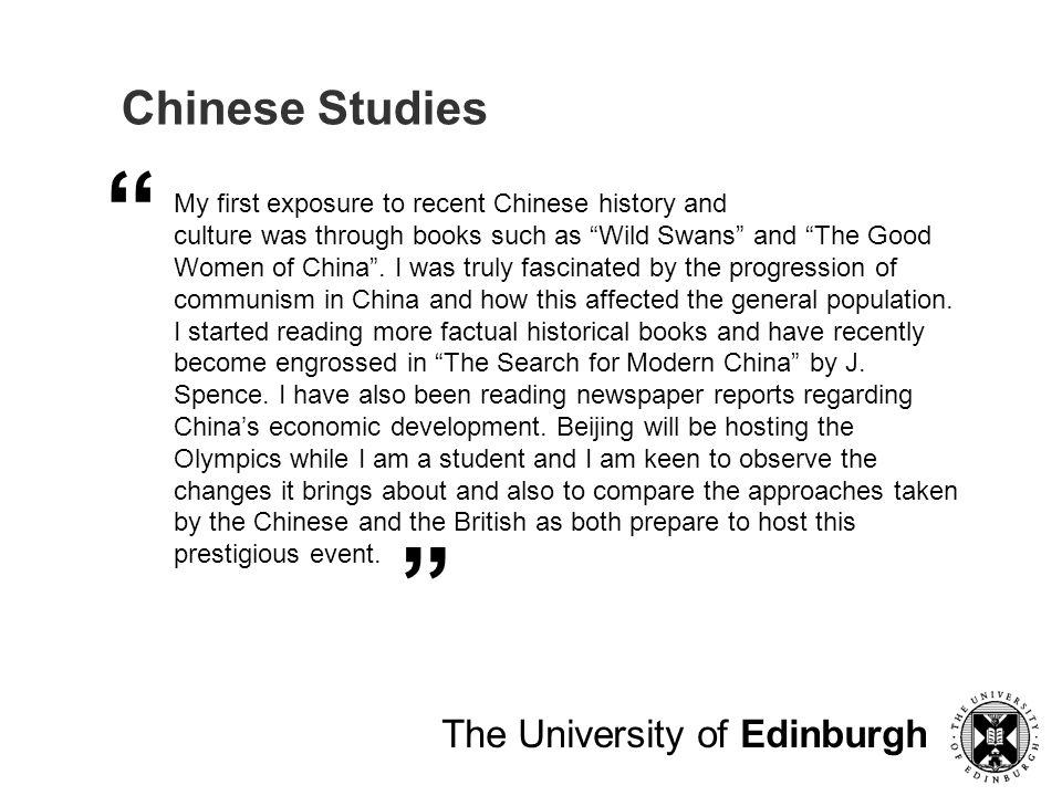 Chinese Studies The University of Edinburgh