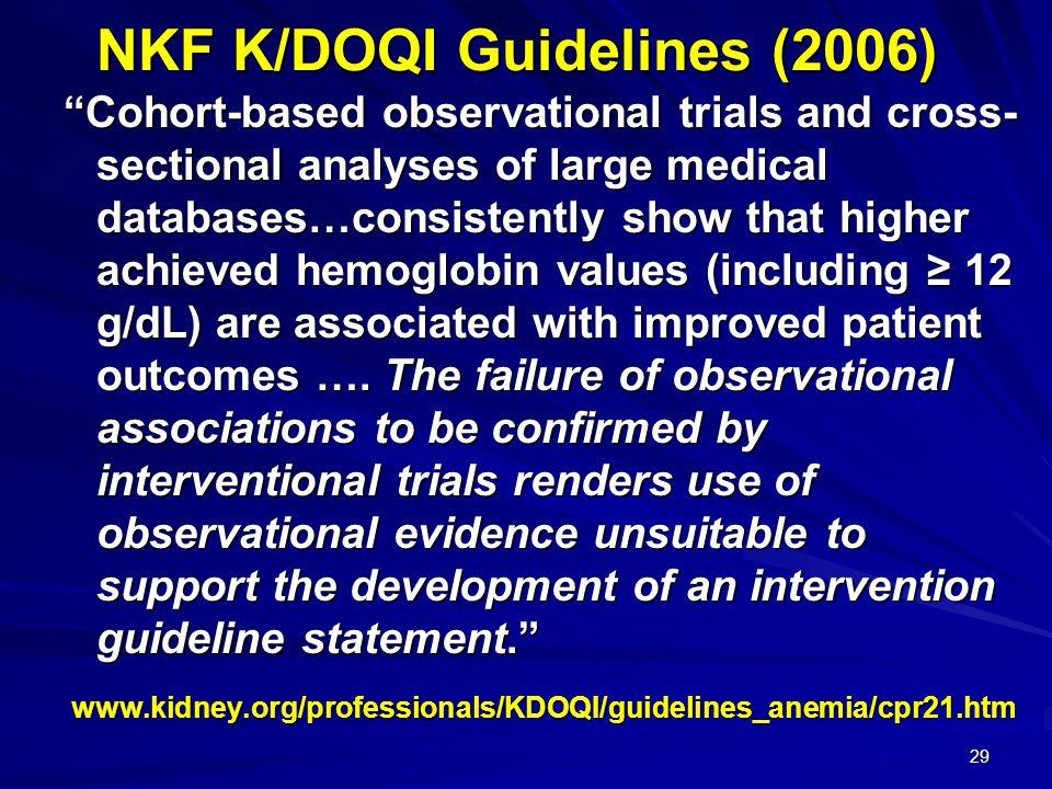 NKF K/DOQI Guidelines (2006)