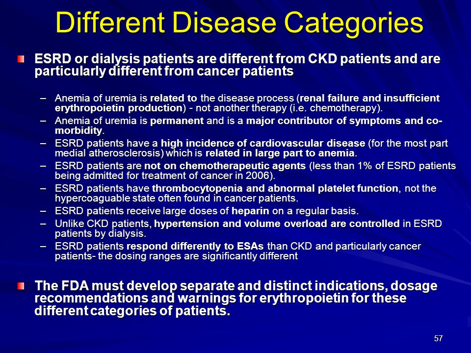 Different Disease Categories