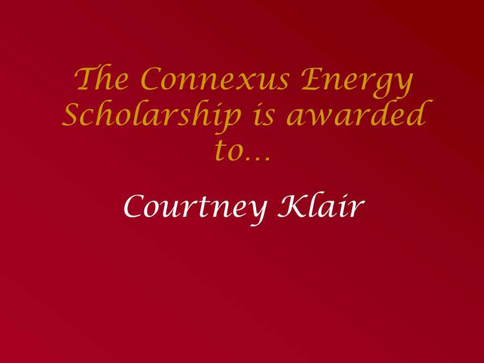 The Connexus Energy Scholarship is awarded to…