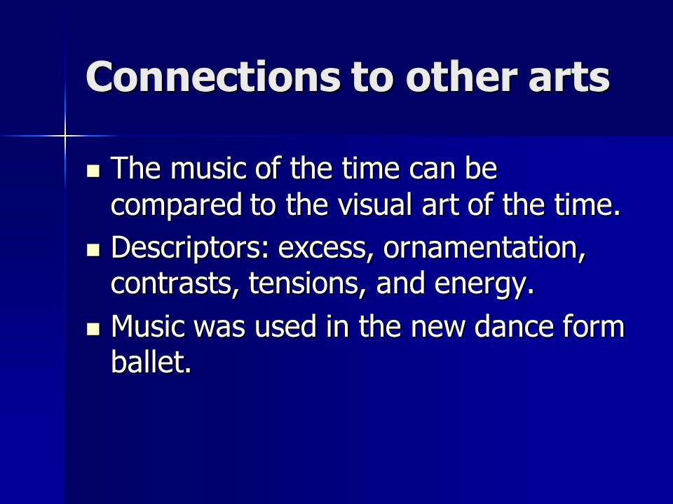 Connections to other arts