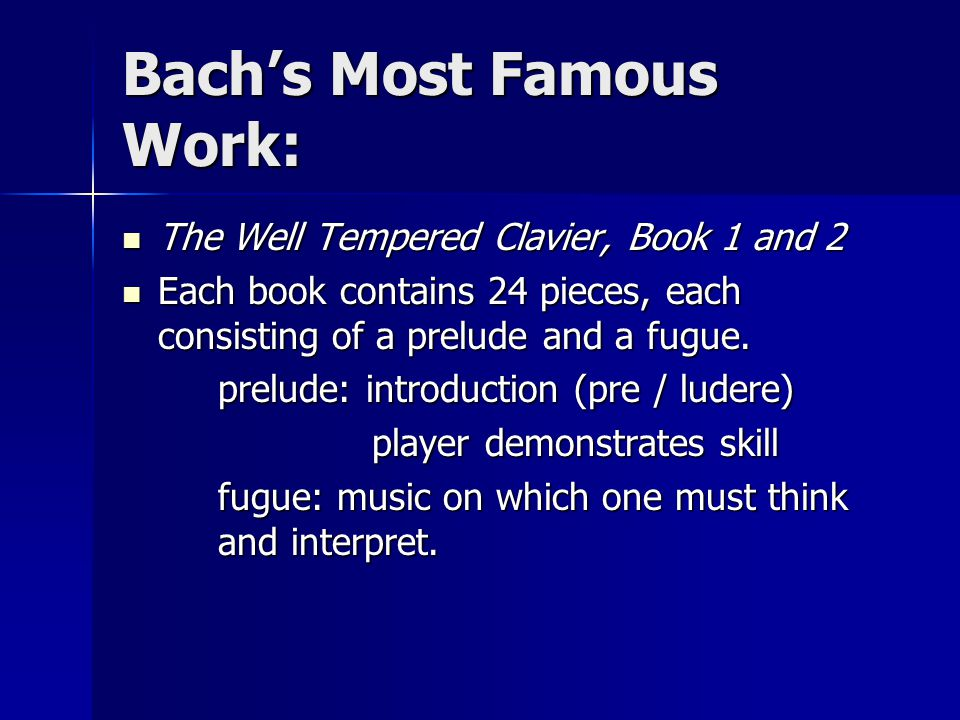 Bach's Most Famous Work: