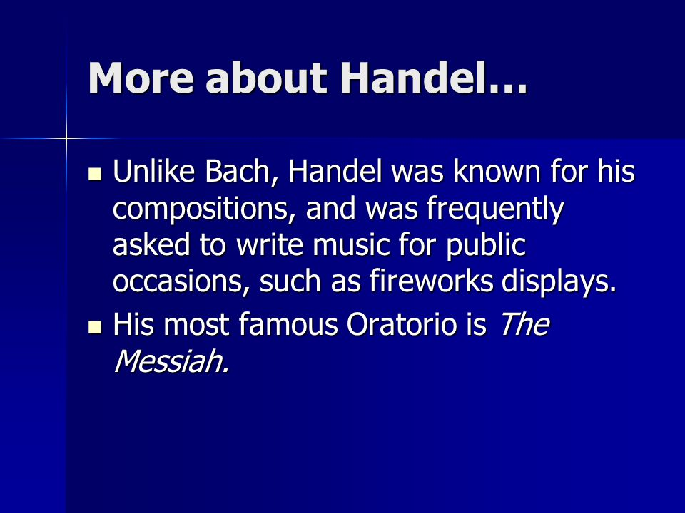 More about Handel…