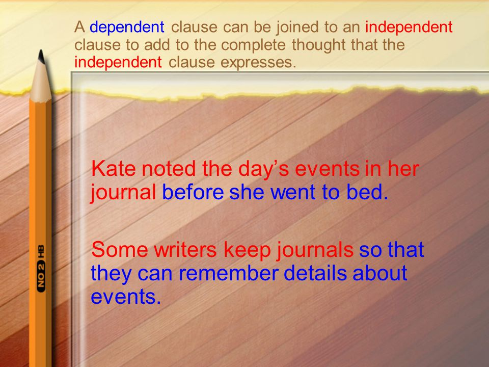 Kate noted the day's events in her journal before she went to bed.