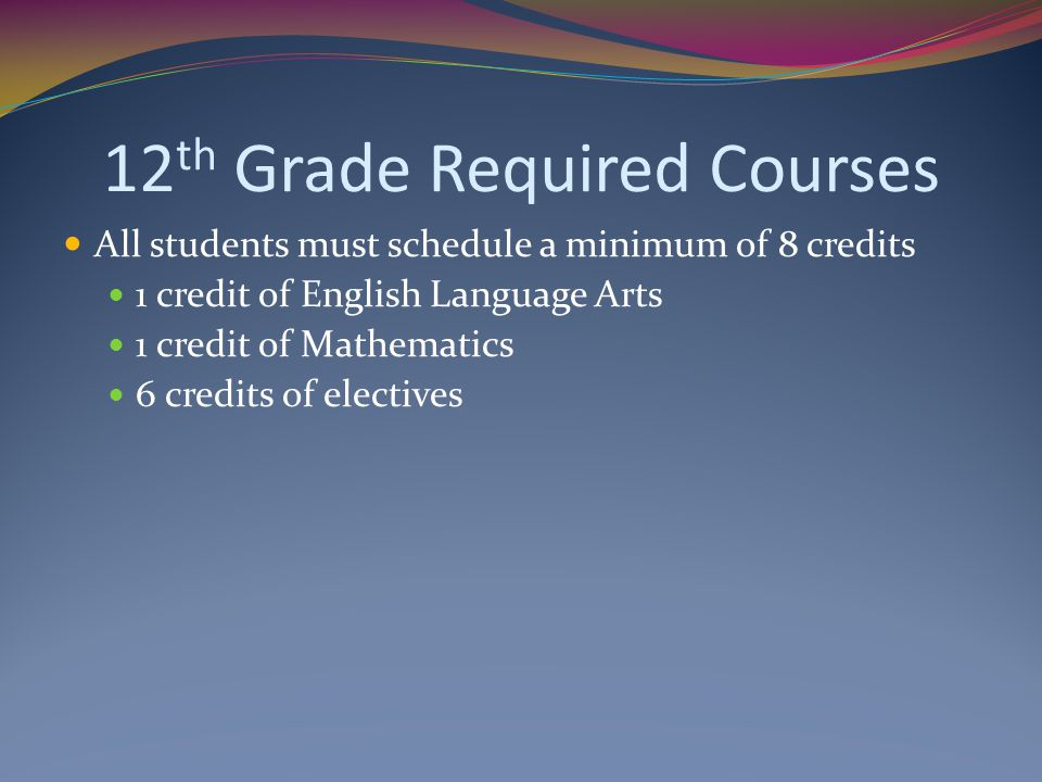 12th Grade Required Courses