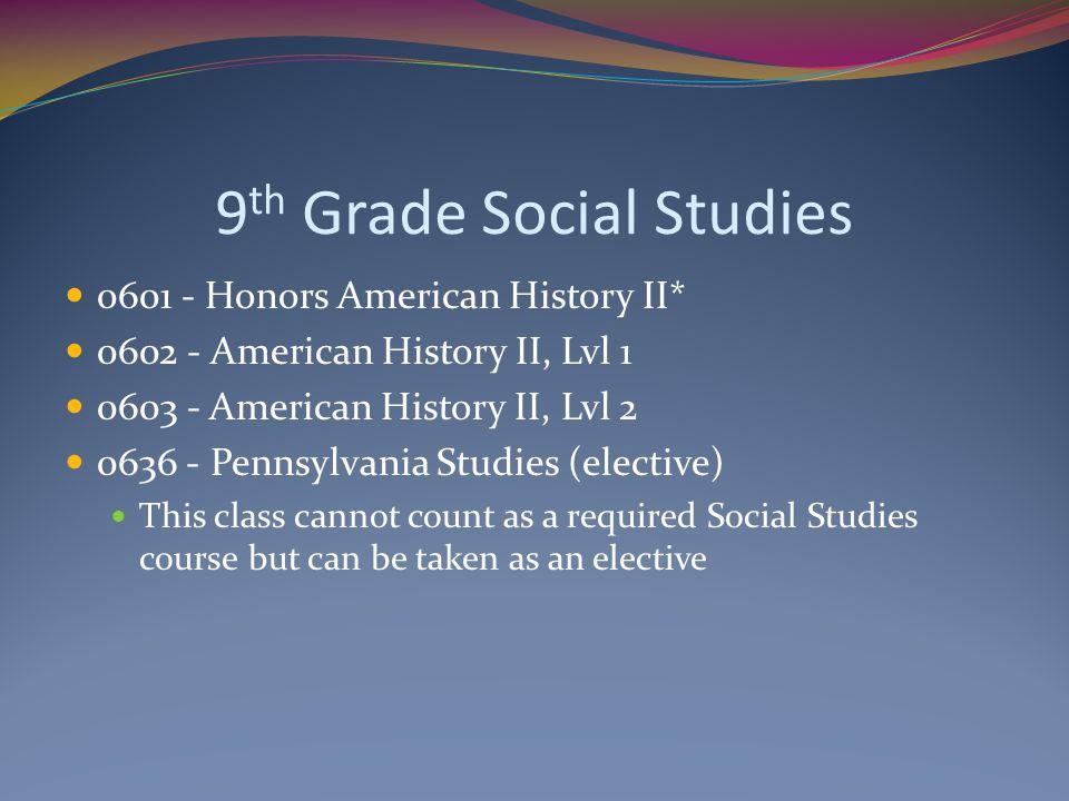 9th Grade Social Studies