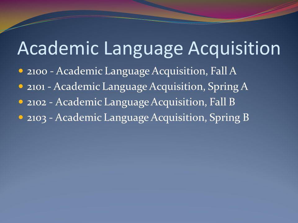 Academic Language Acquisition