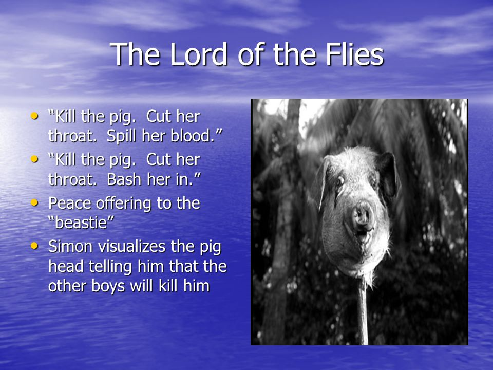 conch shell versus pig head lord of the flies Ralph and piggy discover the conch shell on the beach at the start of the novel and use it to summon the boys together after the crash separates them used in this capacity, the conch shell becomes a powerful symbol of.