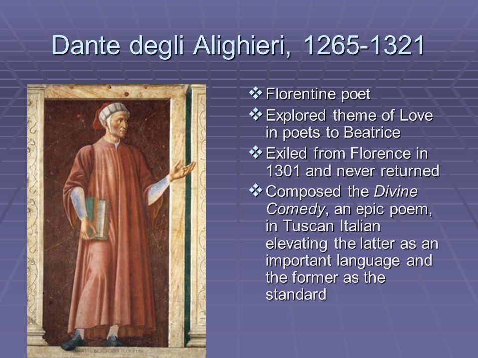 Dante degli Alighieri, 1265-1321