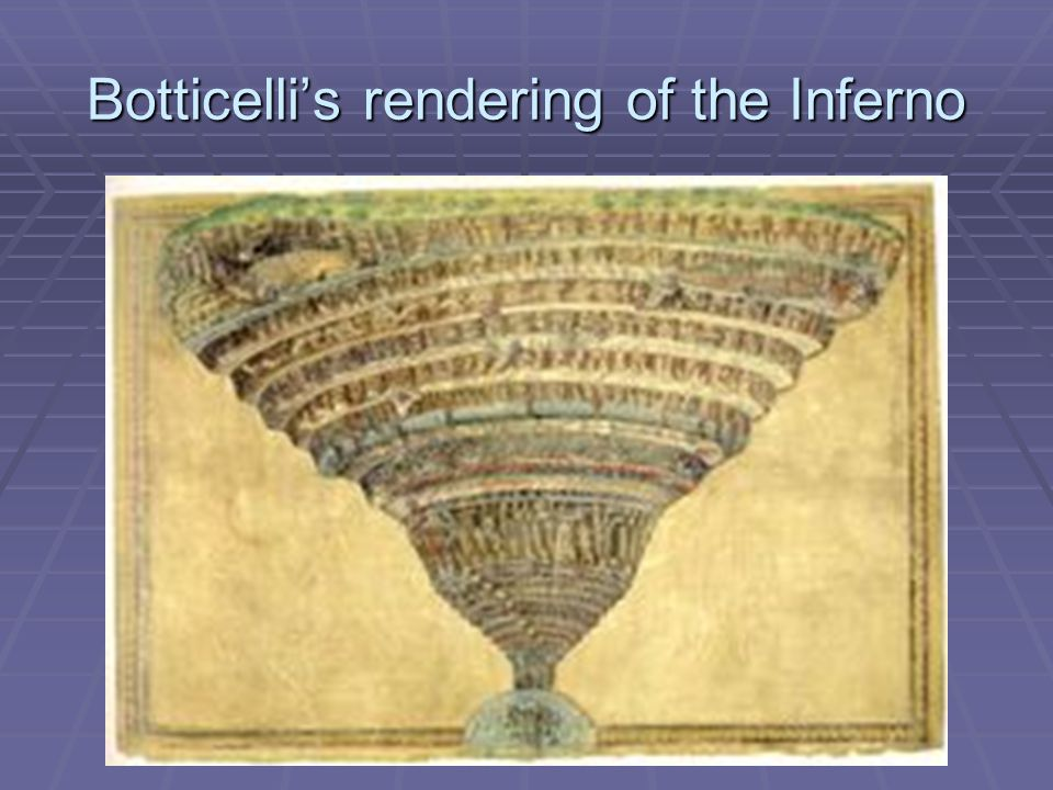 Botticelli's rendering of the Inferno