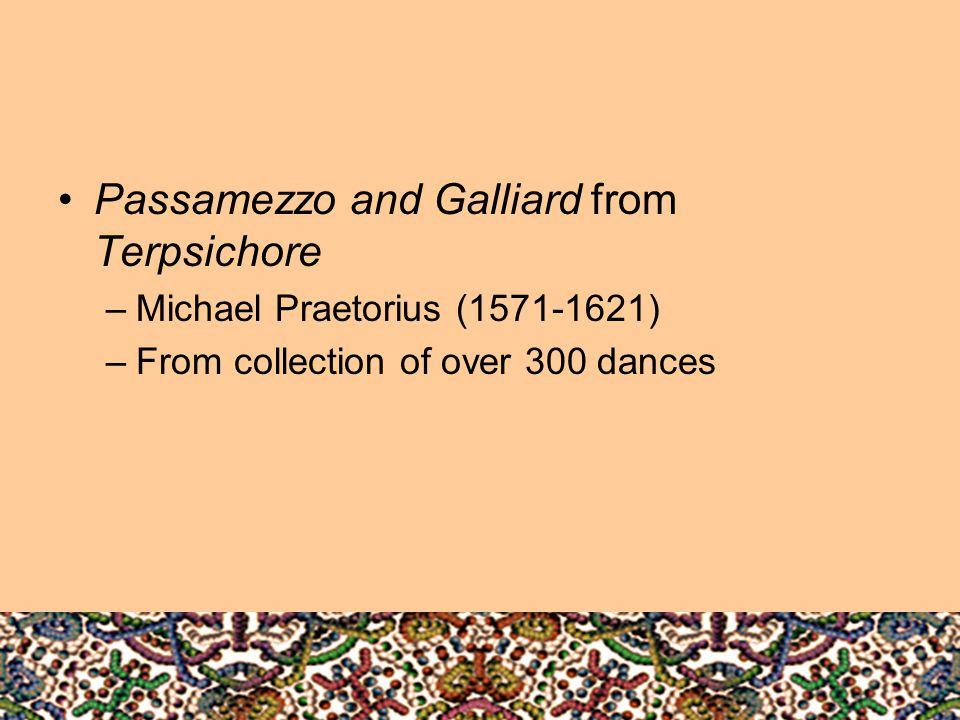 Passamezzo and Galliard from Terpsichore