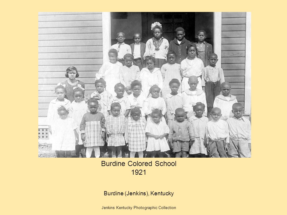 Burdine Colored School 1921