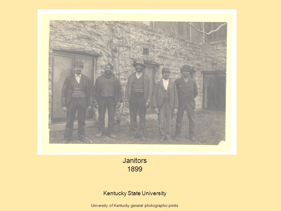 Janitors 1899 Kentucky State University