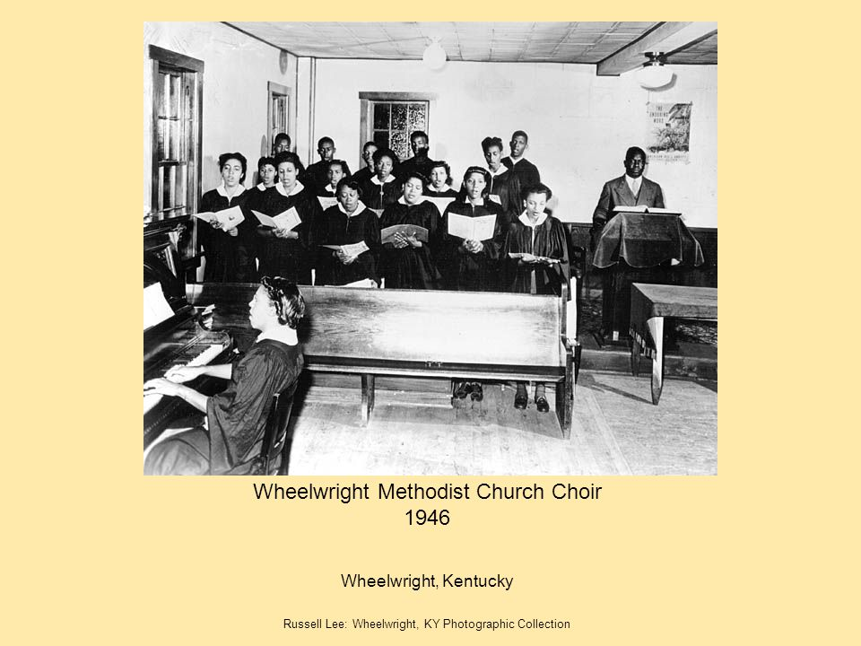 Wheelwright Methodist Church Choir 1946
