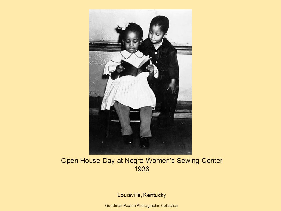 Open House Day at Negro Women's Sewing Center 1936