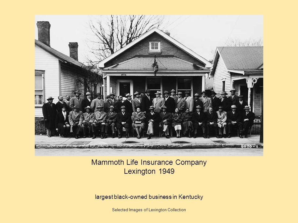 Mammoth Life Insurance Company Lexington 1949