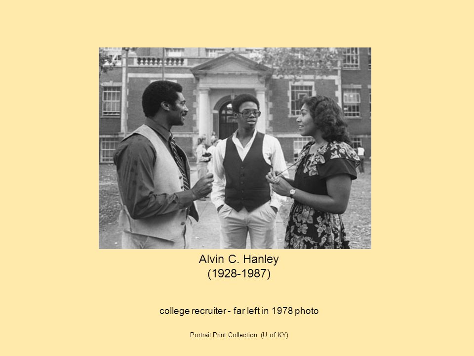 Alvin C. Hanley (1928-1987) college recruiter - far left in 1978 photo
