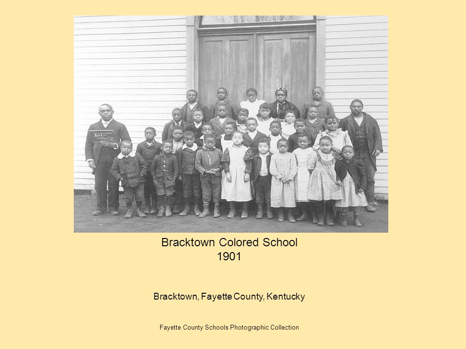 Bracktown Colored School 1901