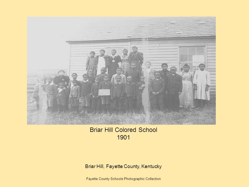 Briar Hill Colored School 1901