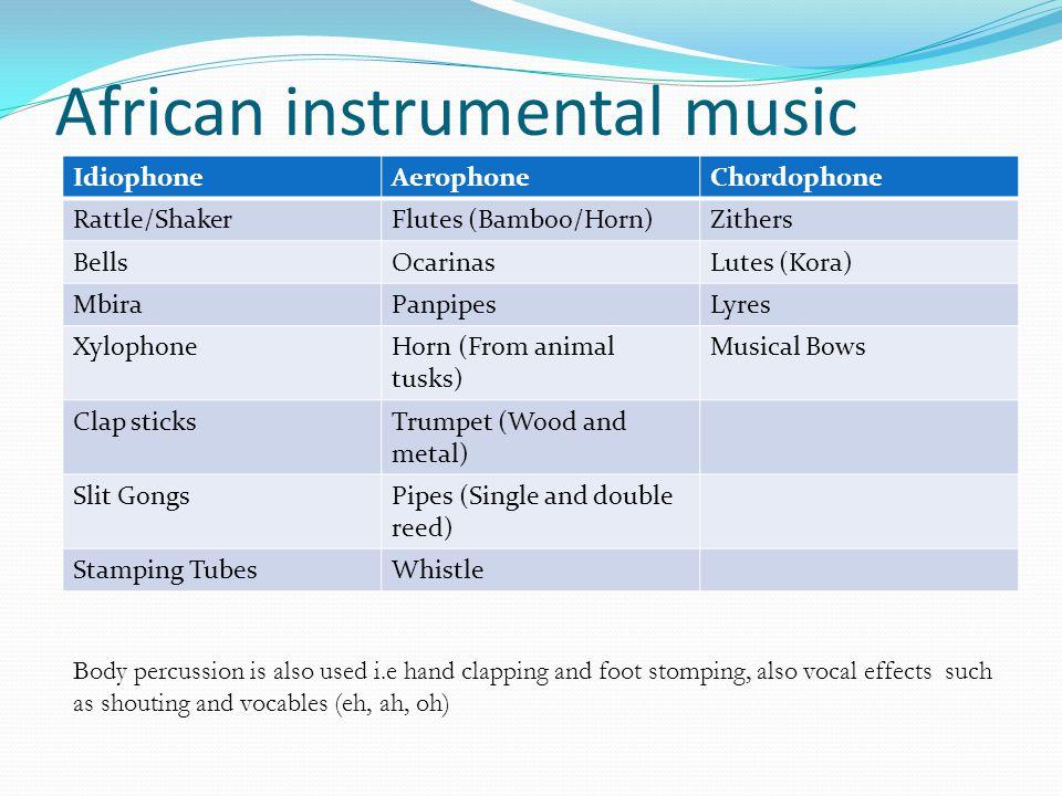 African instrumental music
