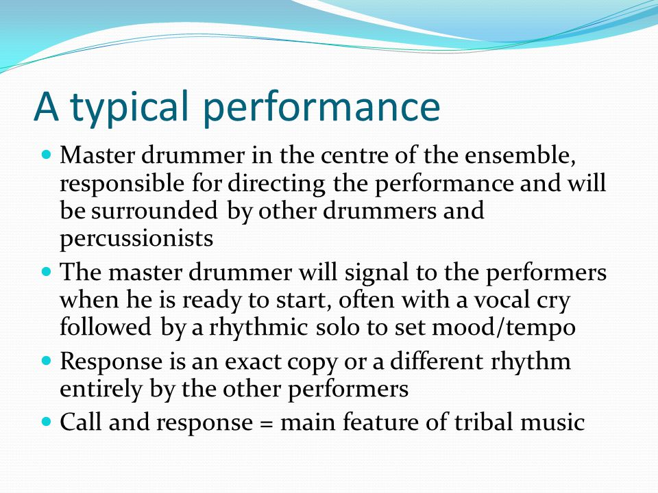 A typical performance