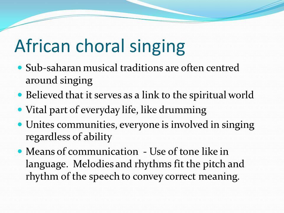 African choral singing