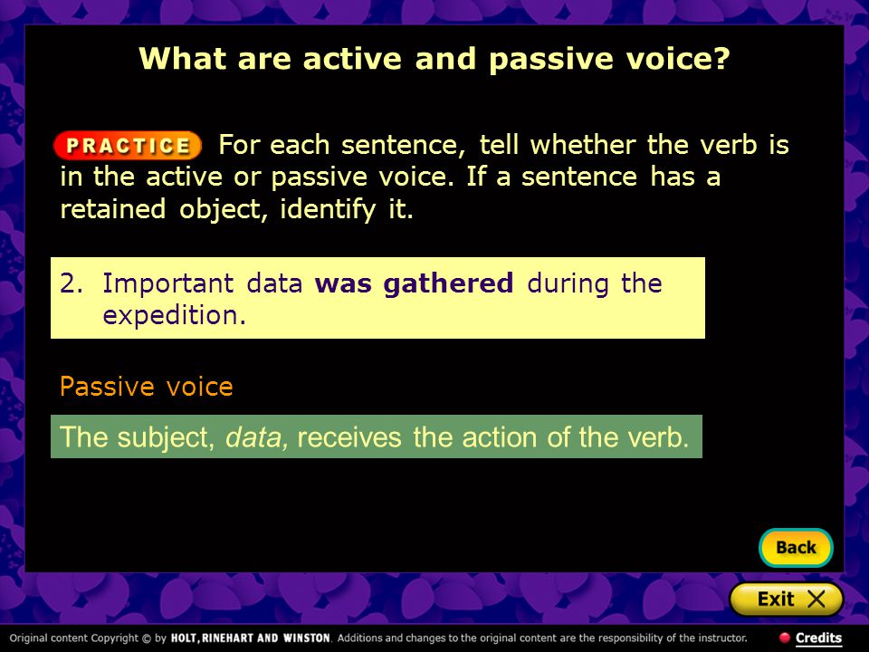 What are active and passive voice
