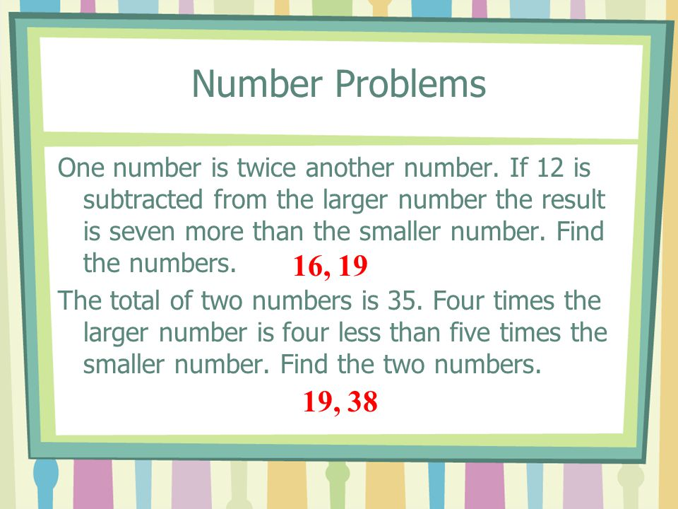 Number Problems